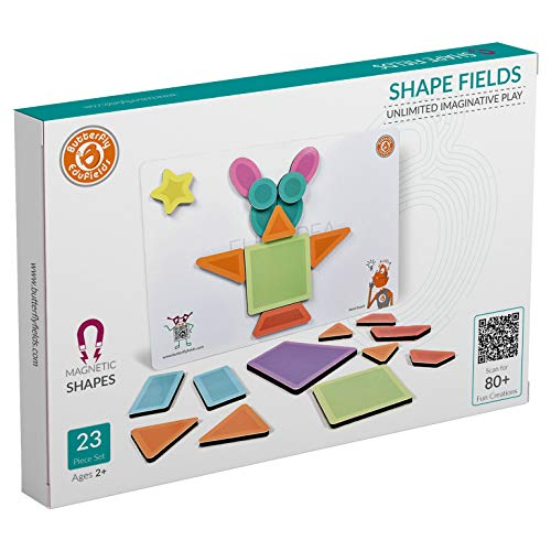 ButterflyFields Magnetic Shapes Puzzles Toys for Kids 2 Years Above Boys & Girls - 23 Pieces| Educational Fun Festival Gift for Unlimited Imaginative Play for Baby, Made in India STEM Toy