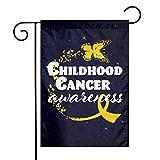 Fornate Gartenflaggen mit Schmetterlings-Motiv für Kinder, zum Bewusstsein von Krebs