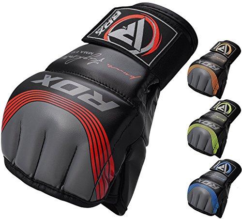 RDX MMA Guanti per Grappling Arti Marziali Allenamento, Pelle Maya Hide Kickboxing Guantoni, Grande per Sparring, Sacco Boxe, Muay Thai, Combattimento in Gabbia Gloves