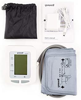Yuwell Blood Automatic Upper Arm Pressure Monitor Digital Large Display 74-Reading Memory (Adapter Included)