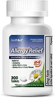 HealthA2Z Allergy Relief, Loratadine Tablet 10mg/Antihistamine,Non-Drowsy, 300 Counts, 24-Hour Allergy Medicine