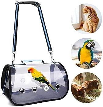 Malsyee Cage de transport légère pour oiseaux, perroquets et animaux domestiques avec perchoir