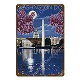muzi928 Blechschild Metallplakat American Cites Poster