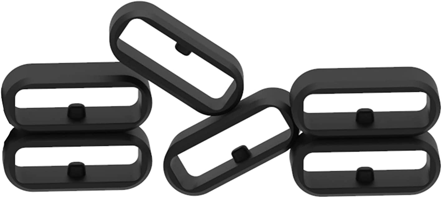 RuenTech Replacement Fastener Ring for Forerunner 645 / 645 Music, Forerunner 245 / 245 Music Band Keepers Soft Silicone Security Loop