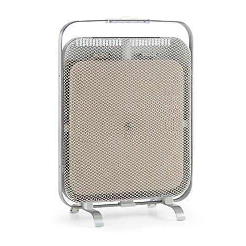 Klarstein HeatPal Marble - Infrarot-Heizpanel, Infrarot-Heizung, Wärmespeicher, Wärmeplatte, lautlos, sicherer Stand, 1300 Watt, modernes Design, allergikergeeignet, Tragegriff, weiß