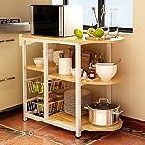 3 Ablage Küchenregal Bäcker Regal Standregal Mikrowellen Halter Küchen regallagerung Küchenwagen...