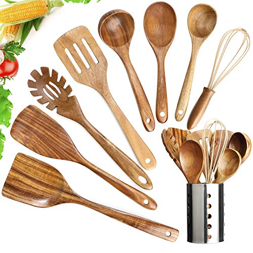 G/&D Wooden Serving Spoon Sheesham Wooden Rice Paddle Handmade Large Spoon For Cooking /& Serving Large portions Wood Ladle Spoon Cooking Mixing Spoon Serving Tableware Kitchen Utensils