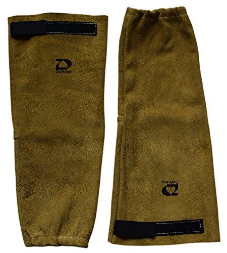 ZaoProteks ZP2202 Leather Heat Resistant Welding Sleeves (Elastic Sleeves)