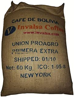 Very large, used, strong burlap coffee bag with free coffee sample