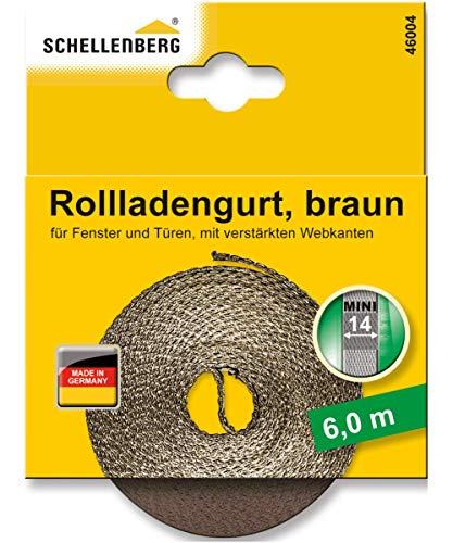 Schellenberg 46004 Rollladengurt 14 mm x 6,0 m - System MINI, Rolladengurt, Gurtband, Rolladenband