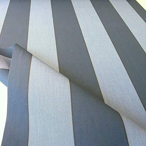 TOLKO Sonnenschutz Markisen-Stoffe als Meterware Zum Nähen mit UV-Schutz 50+ | Wasserdicht, Extra Langlebig - Ohne Ausbleichen (Dunkelgrau Zinn Blau Meliert)