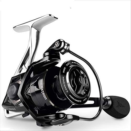 ZSDSX 18kg Max Drag Carbon di Carbonio Resistenza Bobina da Pesca con Bobina di Pesca con Grande Bobina di Alluminio Body Bobina di Pescatrice (Bearing Quantity : 8, Spool Capacity : 4000 Series)