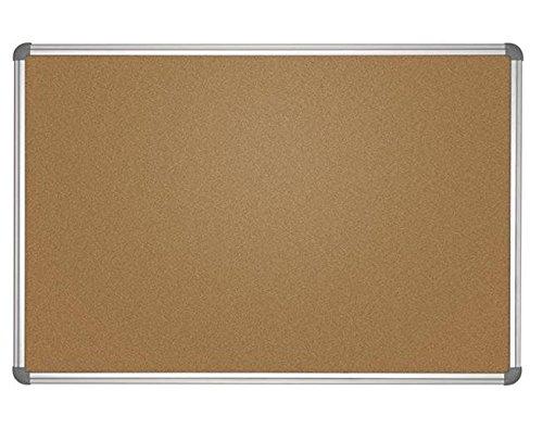 Pinnboard Office, Kork, 60x90 cm, Farbe: grau