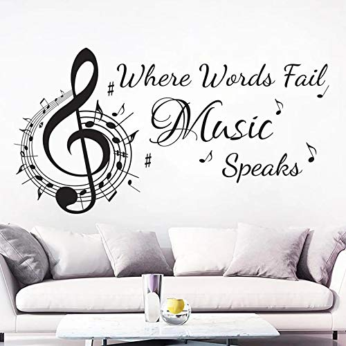 Musical Note Paper Word Will Lose Sound Vinyl Note high Clip Studio Recording Wall Sticker