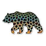 Ed's Fly Shop Casey Underwood Bear Brown Decal Sticker