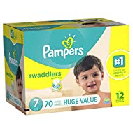 Branded Pampers Swaddlers Diapers, Size 7, 70 Diapers, Weight 41lbs - Branded Diapers with Fast delivery (Soft and Comfortable for Babies)