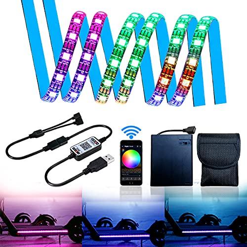 Tira de luz LED RGB para Patinete eléctrico con Controlador Bluetooth y...