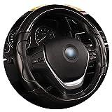 Ablaze Jin Housse de Volant en Fibre de Carbone pour BMW X1 X3 X5 X6 E36 E39 E46 E30 E60 E90 E92, Noir