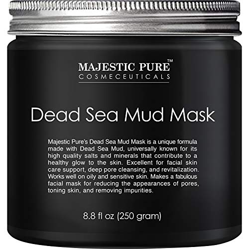 MAJESTIC PURE Dead Sea Mud Mask - Natural Face and Skin Care