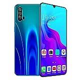 Teléfono móvil 4G teléfono Inteligente Desbloqueado Pantalla caída Agua de 6.3 Pulgadas 8GB + 128GB cámara de 8MP + 21MP batería de 4800mAh teléfono móvil Android con Doble SIM