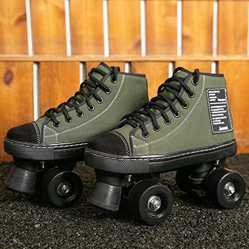 Rollschuhe f/ür Damen Up Wheels Verstellbare Rollschuhe Doppelreihige Rollschuhe Spa/ß f/ür M/ädchen und Damen Unisex 36 Armeegr/ün