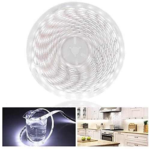 Arote Tiras de Luces LED 5M 60led/M 300 Leds SMD5050 Tira de luz Barra de luz Sin alimentación ni controlador (12V Blanco frío IP65)