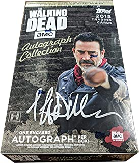 Walking Dead Autograph Collection 2018 Factory Sealed Hobby Box