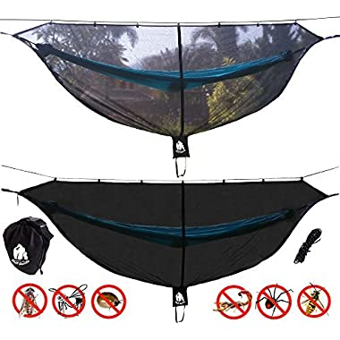 Chill Gorilla DEFENDER 11' BUG NET Stops Mosquitos, No See Ums & Repels Insects. Fits ALL Camping Hammocks. Compact, Lightweight. Eno Accessory. Fast Easy Setup. Size 132  x 51