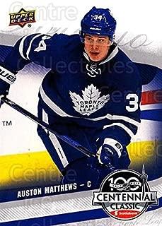 (CI) Auston Matthews Hockey Card 2016-17 UD Toronto Maple Leafs Centennial Classic 1 Auston Matthews
