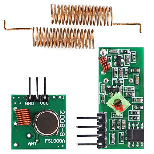 433MHz RF Wireless Receiver Module Transmitter kit + 2PCS RF Spring Antenna OPEN-SMART for Arduino - products that work with official for Arduino boards 3pcs