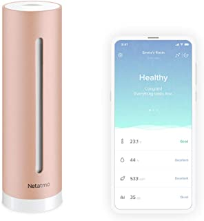 Netatmo Smart Indoor Air Quality Monitor (Temperature, Humidity, Noise and CO2 sensors), NHC-UK