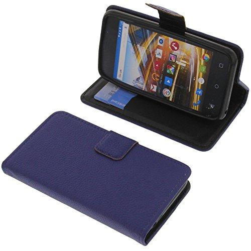 foto-kontor Tasche für Archos 40 Neon Book Style blau Schutz Hülle Buch