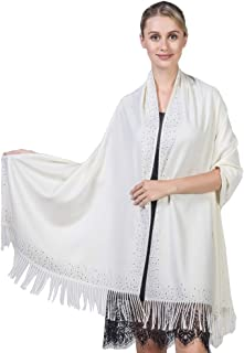 Niaiwei Cashmere Scarf Blanket Large Soft Pashmina Shawl Wrap For Men and Women