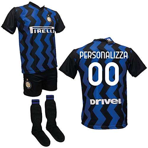 DND DI D'ANDOLFO CIRO Completo Calcio Maglia Personalizzabile Inter, Pantaloncino e Calzettoni Replica Autorizzata 2020-2021 Taglie da Bambino e Adulto (6 Anni)