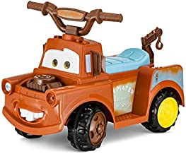 Kid Trax Toddler Disney Cars 3 Tow-Mater Electric Quad Ride On Toy, Kids 1.5-3 Years Old, 6 Volt Battery and Charger Included, Max Weight 45 lbs, Tow-Mater, brown (KT1193I)
