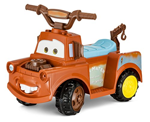 Kid Trax Toddler Disney Cars 3 Tow-Mater Electric Quad Ride On Toy, Kids 1.5-3 Years Old, 6 Volt Battery and Charger Included, Max Weight 45 lbs, Tow-Mater