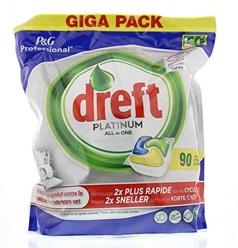 DREFT Spülmaschinen-Tabs - All-In-One - Platinum Citroen - 90 Stück