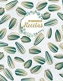 Mi cuaderno de recetas: Cuaderno de Recetas para Apuntar Todas las Recetas Familiares