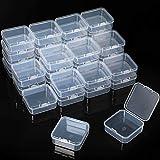36 Cajas de Almacenamiento de Cuentas Contenedores de Plástico Transparente...