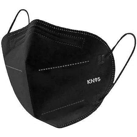 Pinnai, 50 Cubrebocas KN95 Ajustador Nasal Oculto 5 Capas Color Negro (50 Pack)