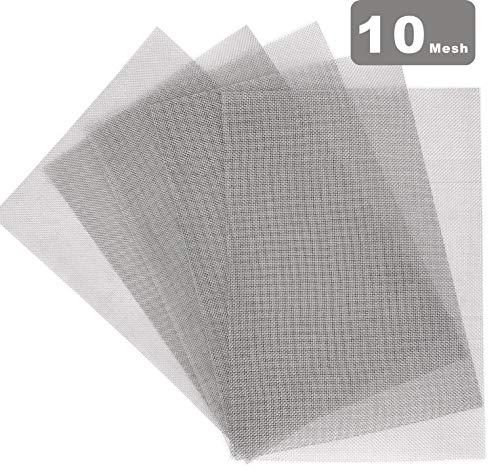 MOPHY 5er 304 Edelstahl Drahtgewebe Edelstahlgewebe (10 Mesh) Wire Mesh-A4 (210 x 300mm)