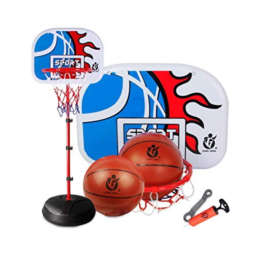 Read About Portable Basketball Hoop,Stand Backboard System Height Adjustable Front Court Portable Ba...