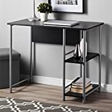 Mainstays Basic Student Desk-Black and Silver