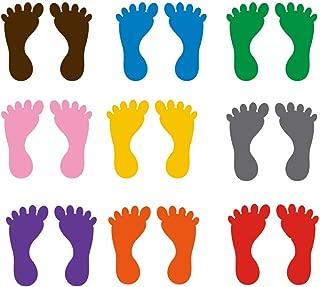 NUOBESTY Footprint Sticker Self-Adhesive Floor Decals for Kids Room Nursery Floor Stairs Decor 9 Pairs