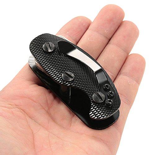 Lixada Porte-clés Compact en Alliage d'aluminium Organisateur Clé Clip Dossier Multi-Usage EDC Pocket Outil de Vitesse