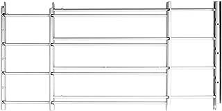 John Sterling 4Bar Basic Fixed Window Guard,14x14-24 Inches White