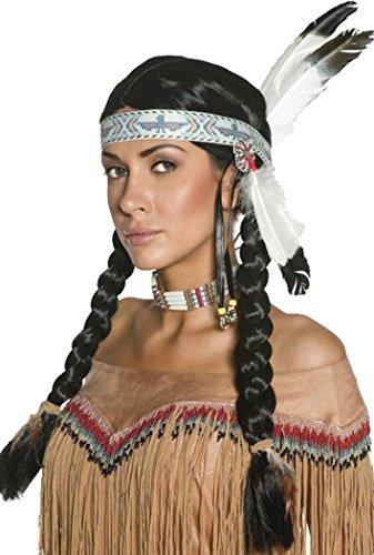 Cowboys & Indianen Fancy Party Native Indian Pruik Dames Met Veer & Hoofdband
