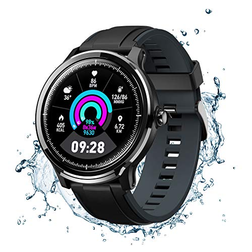 NACATIN SmartWatch, Reloj Inteligente Impermeable IP68,Bluetooth Relojes Deportivos Pantalla t¨¢ctil Completa para Monitor Deportivo para Dormir,Hombre Mujer para iOS y Android (Azul)