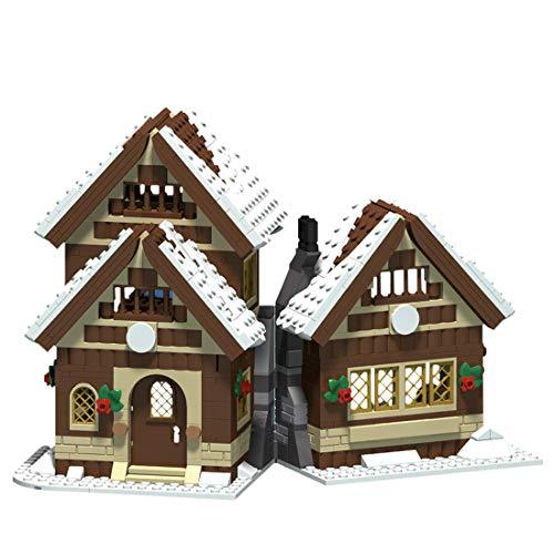 MSEI 665St Winter Urlaub Dorf Haus Baustein Modell Winter Village Kompatibel mit Lego