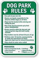 ドッグパークルールサイン安全サインスズメタルサイン道路ストリート通知サイン屋外装飾注意サイン